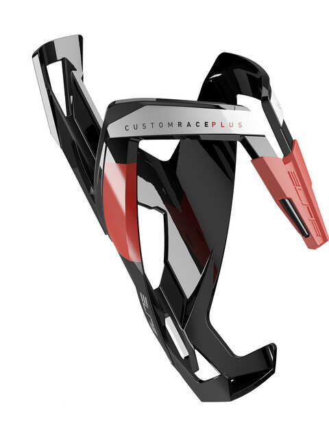 Elite Custom Race Plus Flaschenhalter schwarz/rot glänzend